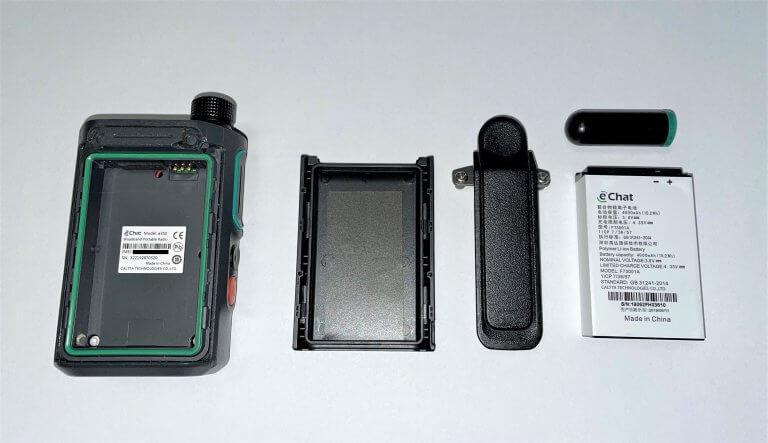 eChat E350 PoC adóvevő készülék szétszerelve