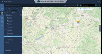 Diszpécser szoftver - Magyarország térkép