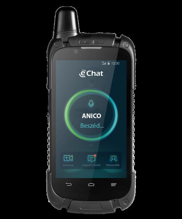 eChat E700 POC internetalapú adóvevő